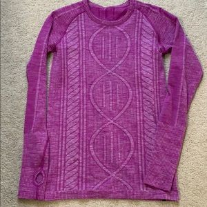 lululemon rest less pullover ultra violet 8